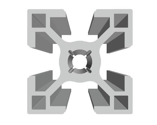 پروفیل آلومینیوم شیاردار صنعتی 30
