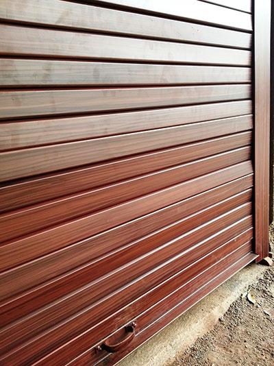 تیغه آلومینیوم کرکره هوشمند رنگ چوب